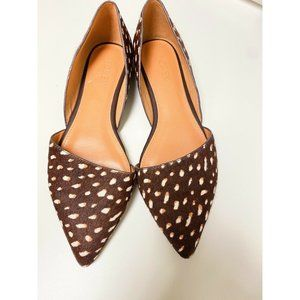J.Crew Factory Spotted Calf Hair Flats Size 5.5